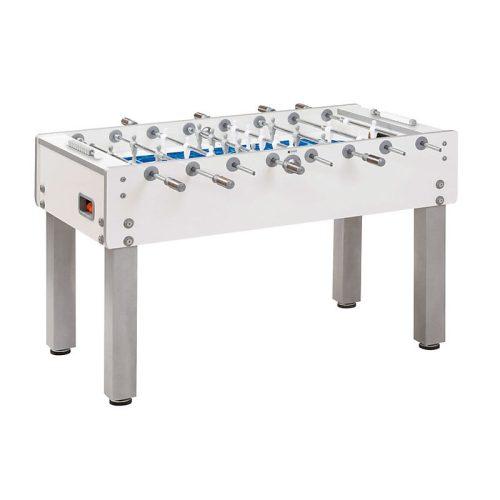 Garlando G500 asztalifoci asztal Pure White kivitelben vízimintás játéktérrel átmenő rudazattal