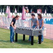 Garlando G-500W Kültéri asztalifoci asztal átmenő rudazattal KÉK-EZÜST