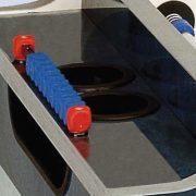 Garlando Olympic Outdoor kültéri üvegfedlapos érmevizsgálós csocsóasztal telescop rudazattal